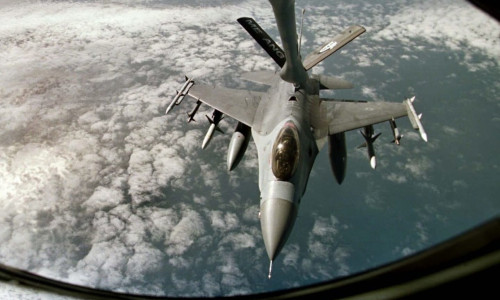 A U.S. Air Force jet in action